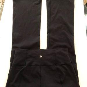 Lululemon Women's 10, Black Luon Flare Pants, EUC